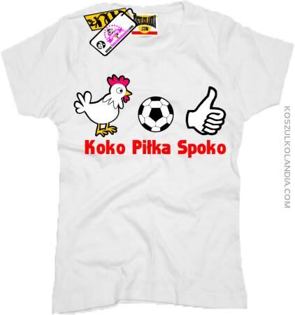 Koko Piłka Spoko - Koszulka Damska