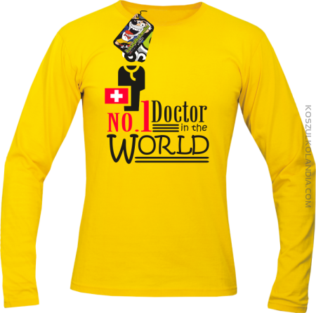 No1 Doctor in the world - Longsleeve męski