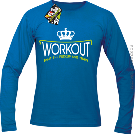 Workout shut the FUCKUP and train - Longsleeve męski