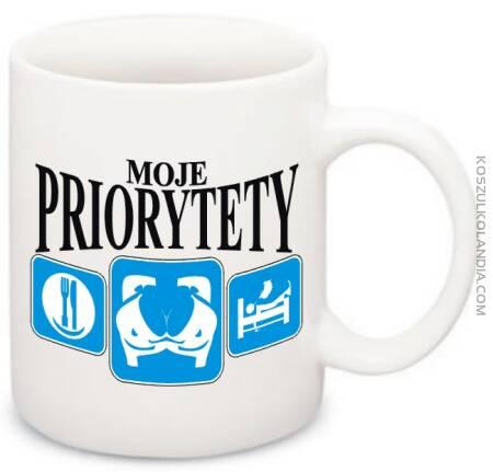 MOJE Priorytety - Jedzenie SEX Odpoczynek -kubek na kawe
