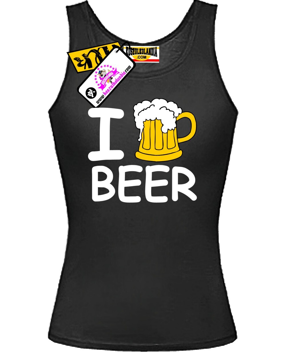 I Love Beer - Top Damski Nr KODIA00124t