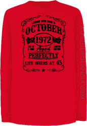 Legends were born in October Aged Perfectly - Longsleeve dziecięcy czerwony
