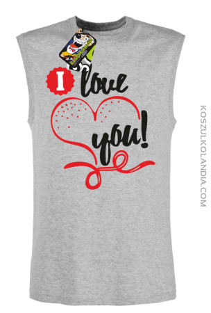 I LOVE YOU - RETRO - bezrękawnik męski TANK