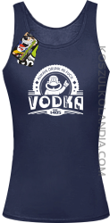 Always Drunk As Fuck VODKA Est 1405 - Top damski granat