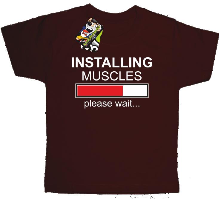 Installing muscles please wait... - Koszulka dziecięca