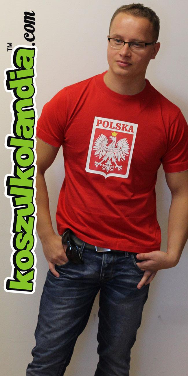 ORZEŁEK Polski W HERBIE - koszulka męska z nadrukiem