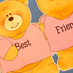 best friend nadruki misiów na koszulce