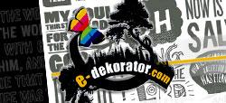 e-dekorator dekoracje naklejki ścienne szablony malarskie DEKORATOR WNĘTRZ wnętrza piękne NAKLEJKI NA LODÓWKI