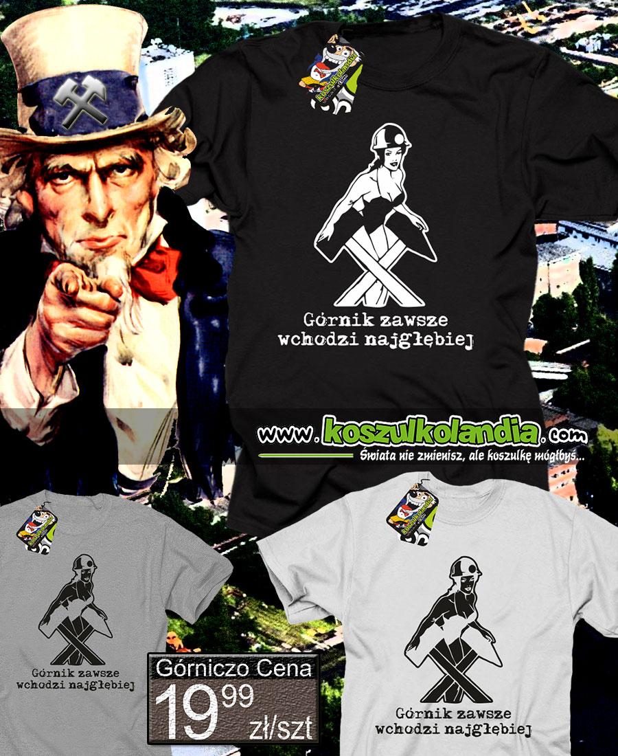 górnicza szlachta górnik miner coal barbórka koszulka tshirt barbary święto 1