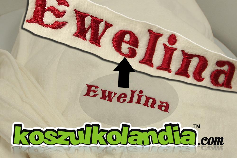 haft na szlafrokach na odzieży