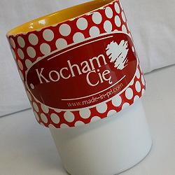 kubeczek z nadrukiem sublimacyjnym KOCHAM CIĘ ze sklepu made-in-prl.com