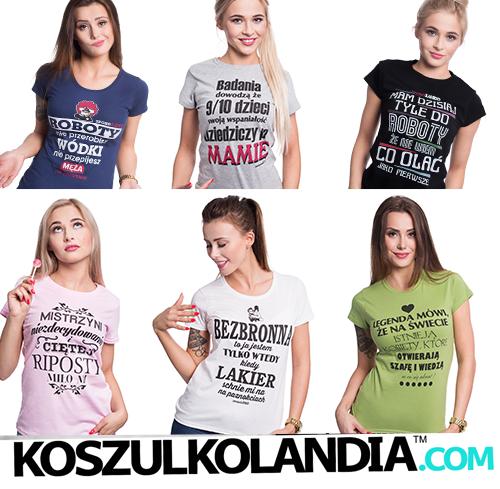 Koszulki śmieszne, śmieszne wzory, podkoszulki z nadrukiem