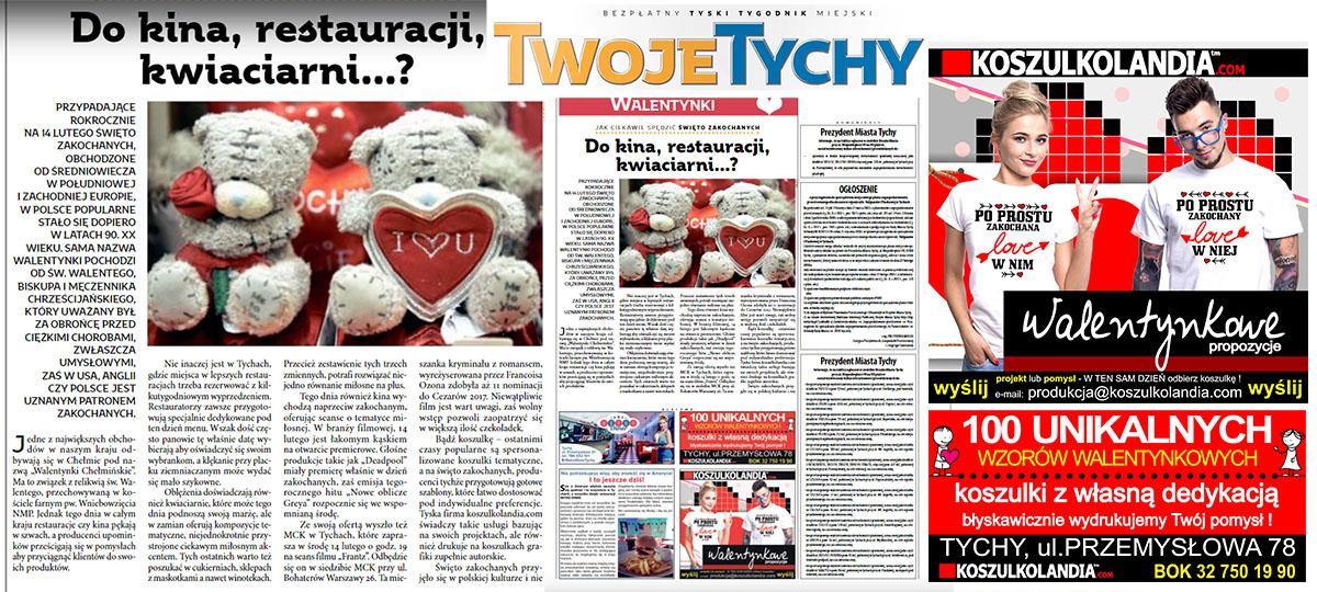 koszulki dla zakochanych dzień Walentynki gazeta Twoje Tychy